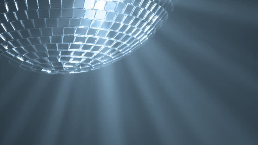 Disco ball with reflected moving blue rays, HD 1080i #5738459