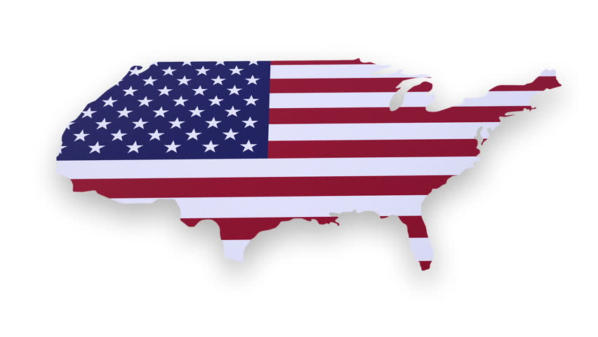 China USA EU Trade With Container Ships Animation Stock Footage - China map in us flag