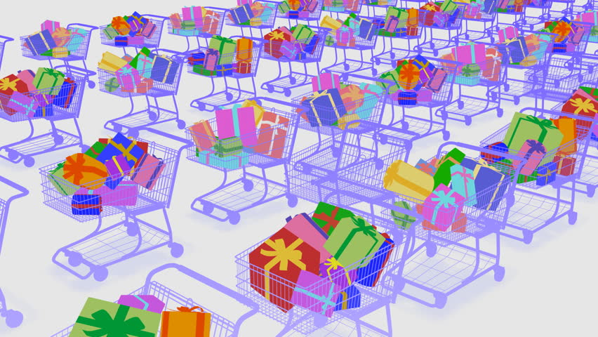Shopping Cart. Gift Present. | Shutterstock HD Video #582196