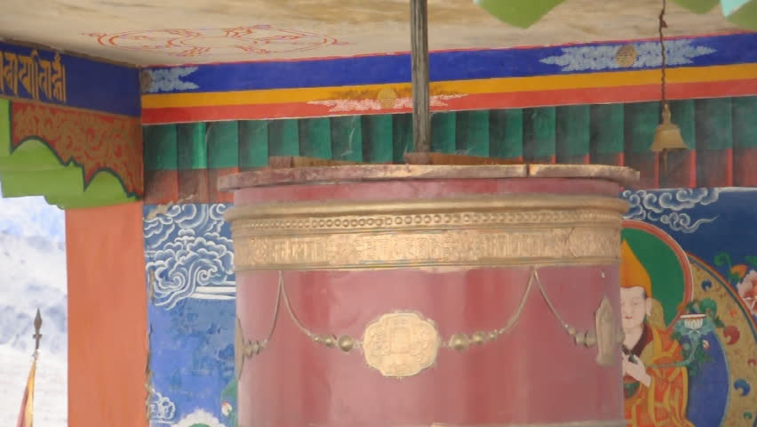 rotation of prayer wheel