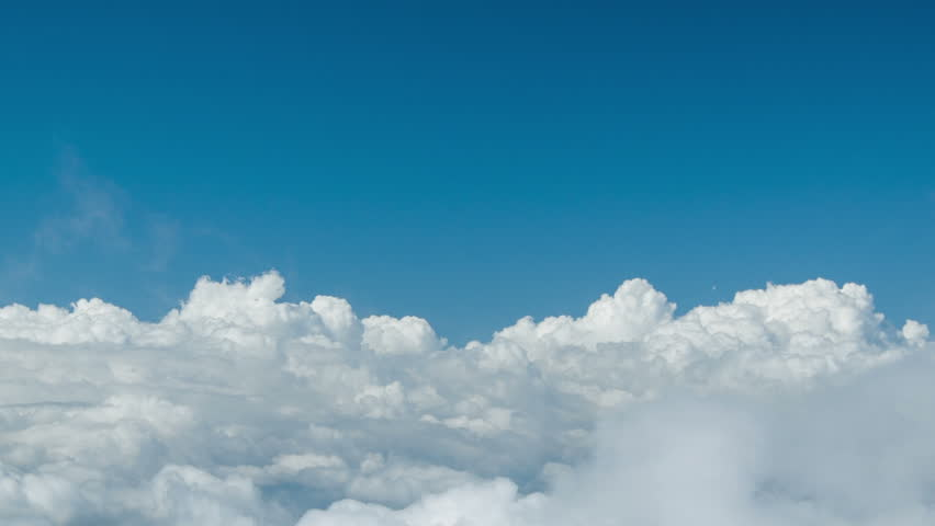 High definition footage 1080p - Dive into heavy clouds. Natural introduction for video