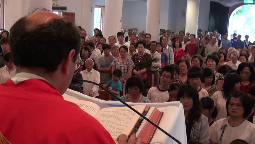Mass in a Catholic Church. Taiwan | Shutterstock HD Video #5844563