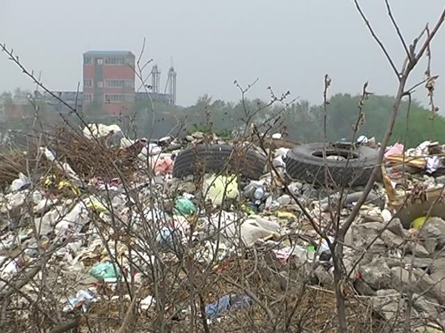 several different video clip in one video footage  landfill, rubbish, garbage, waste, ecology