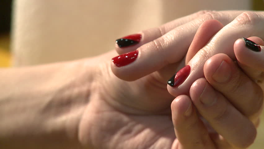 Nail art manicure making nice manicured woman palms stock nail art manicure making nice manicured woman palms hd stock video clip prinsesfo Images