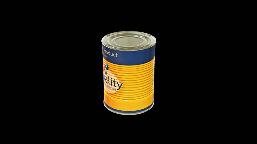 tin metal screen cans animation pack 6 in 1 with alpha screen 9 sec for loop stock