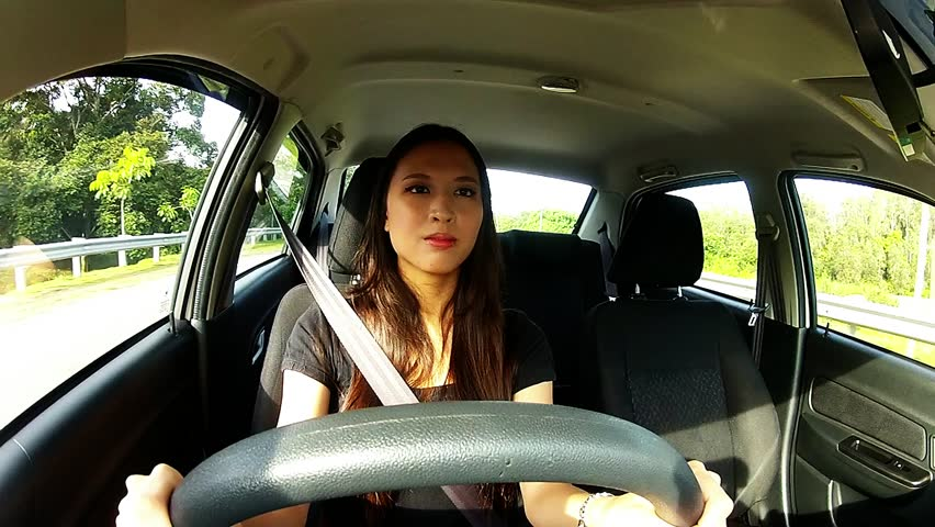 Asian Lady Driving 65