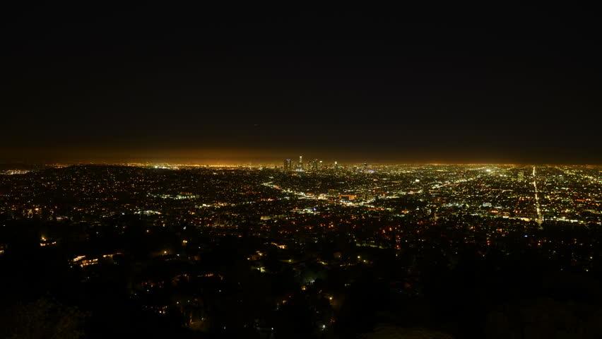 Los Angeles Night View 56 Timelapse Traffic    Shutterstock HD Video #5951909