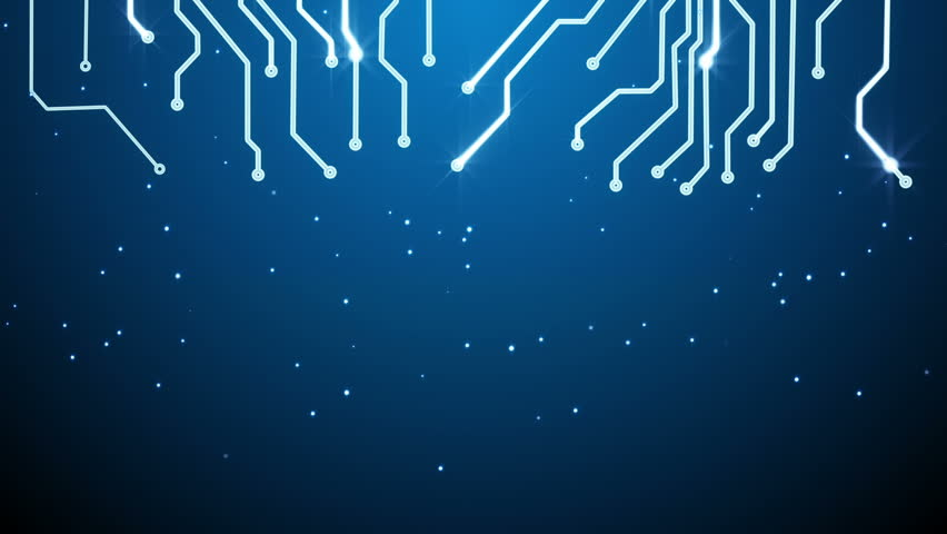 stock video clip of blue circuit board and empty space loop shutterstock