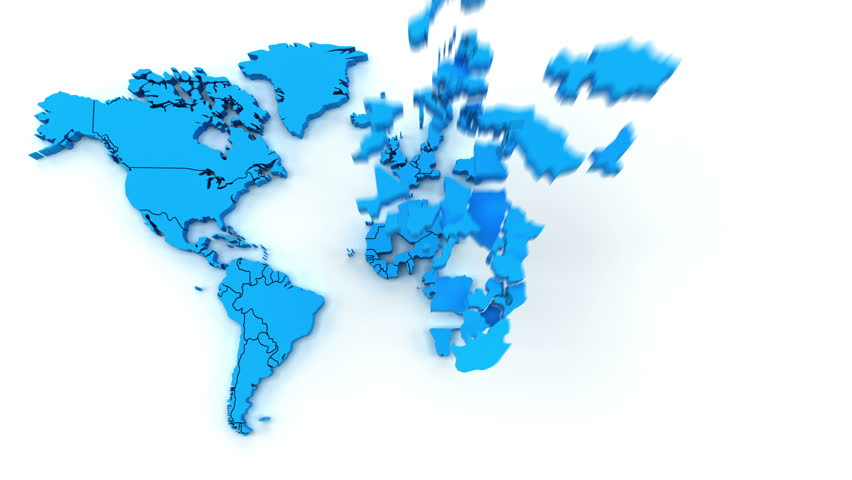 Stock video of animated infographics map with country39s flag 4k00184k animation of world map with individual countries gumiabroncs Image collections