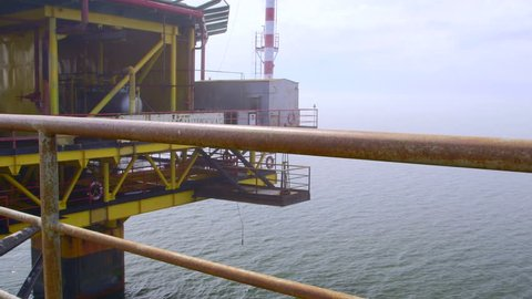 Offshore gas production platform processing equipment in the East-Kazantip field