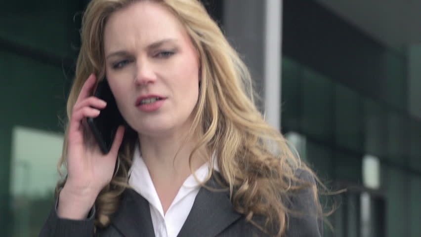 Slow Motion Close Up Of Stressed Businesswoman Arguing On The Phone.  | Shutterstock HD Video #6021329