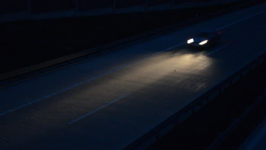Car driving high way at night | Shutterstock HD Video #6038789