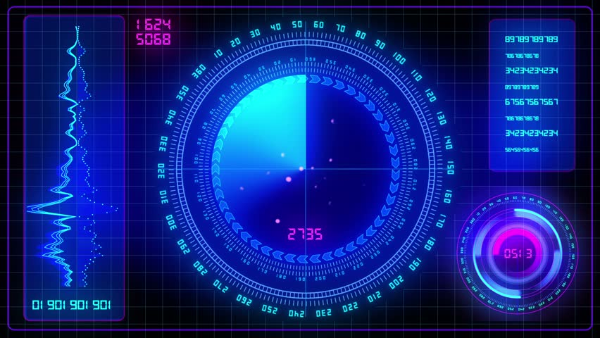 Spaceship Control Panel Stock Footage Video 1960288