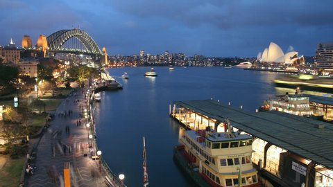 Time Lapse of Sydney Harbour #3- The view from Circular Quay, Sydney Australia