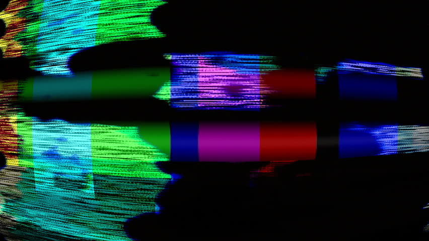 Malfunctioning TV color bars (Loop). | Shutterstock HD Video #6068459
