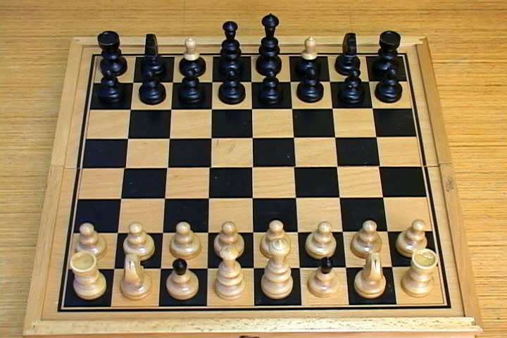 chess game in frame recording mode