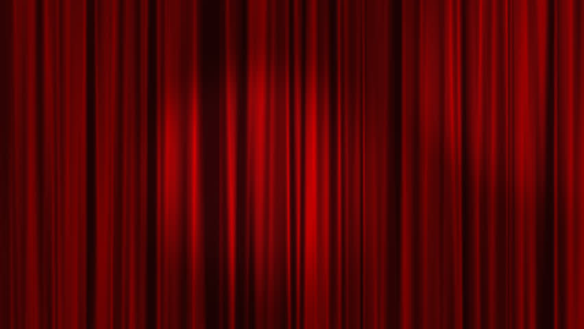 Red Curtains with spotlights that move back and forth and then the Curtains open. Alpha Channel is included.