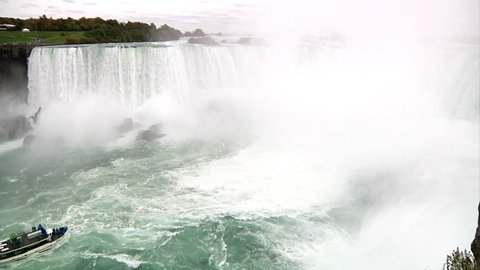 Niagara Falls in slow-motion.