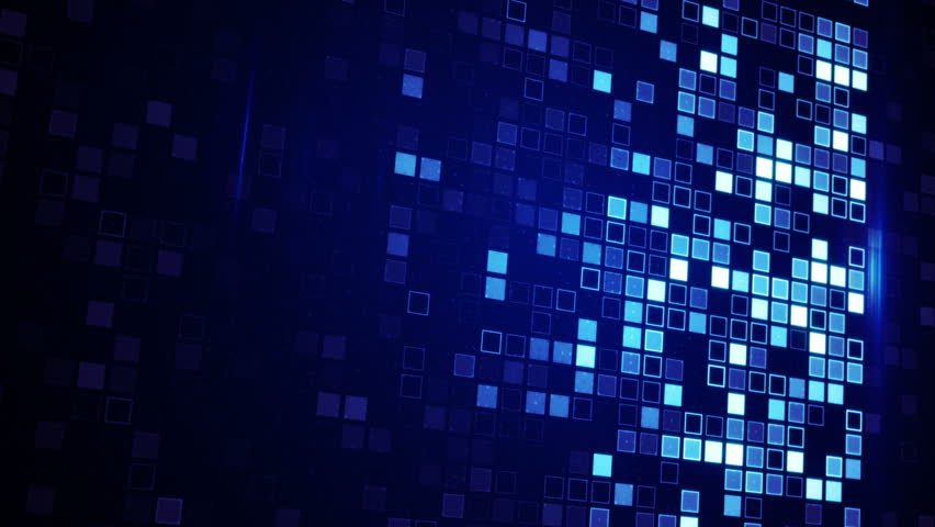 Beaming Blue Squares Loopable Techno Background Stock Footage ...