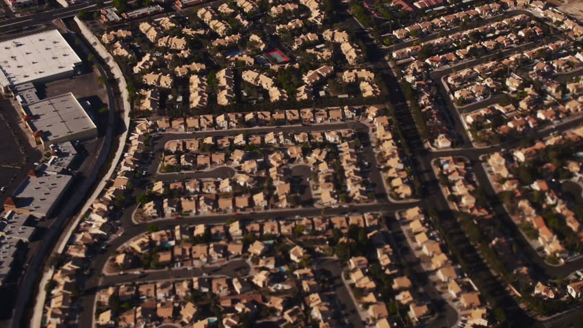 Aerial view from a jetliner of the Las Vegas area.   Shutterstock HD Video #6091469
