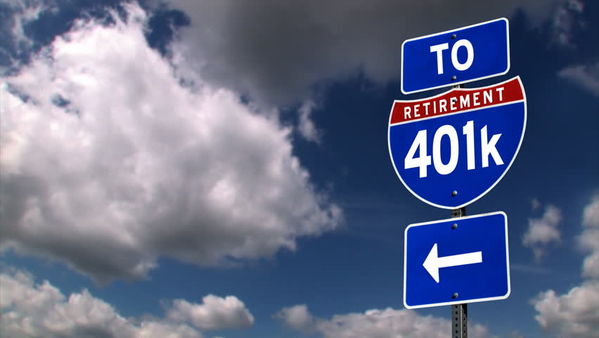 To retirement directional road sign.