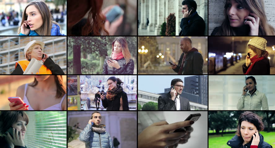 People using smart phone - multiscreen. 4k | Shutterstock HD Video #6125969