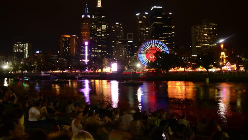 MELBOURNE Mambo Festival 2013:  Melbourne street life at night, Mambo Festival March 2013 in Melbourne, Australia