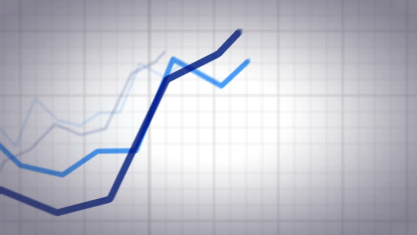 Positive and Negative Trend Chart on White Background. | Shutterstock HD Video #6146369