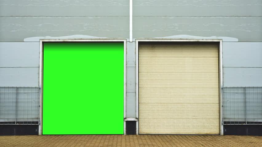 Stock Video Of Industrial Unit With Roller Shutter Doors 6204209