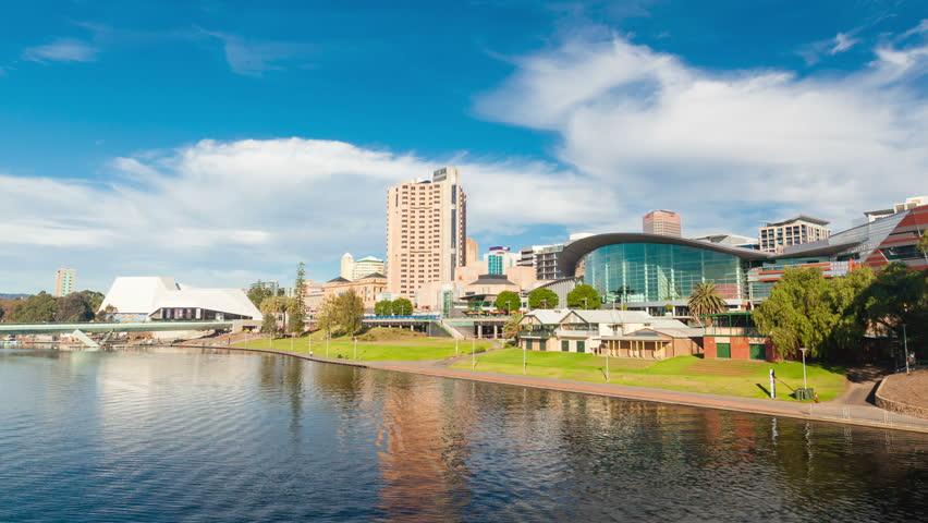 4k hyperlapse video of Adelaide city, Australia