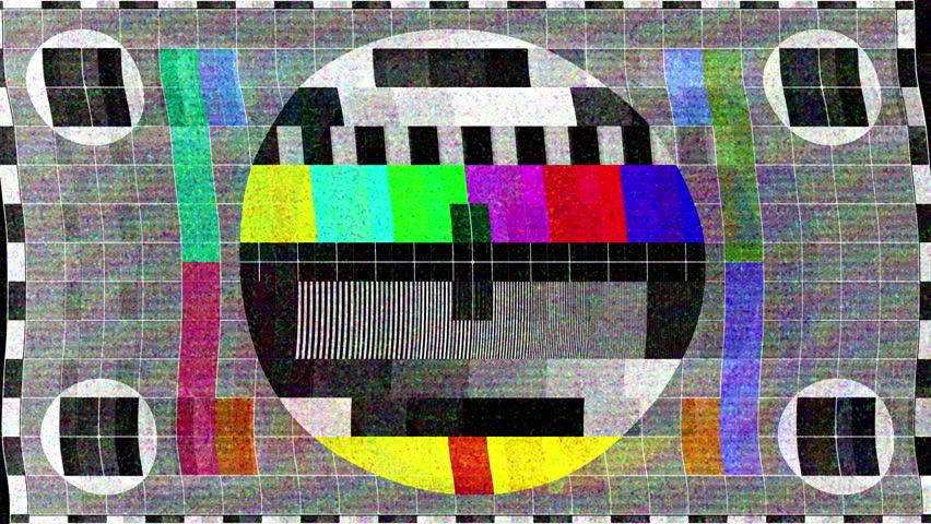 Broadcast technology tech network display screen broken transmission
