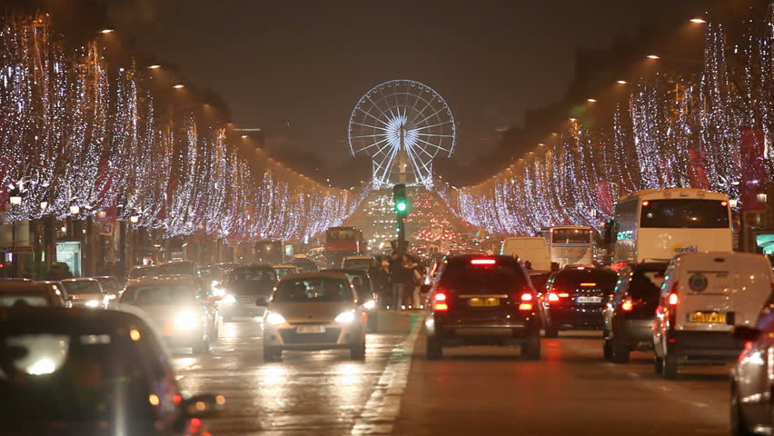 Christmas Paris France.Champs Elysees By Night For Stock Footage Video 100 Royalty Free 630019 Shutterstock
