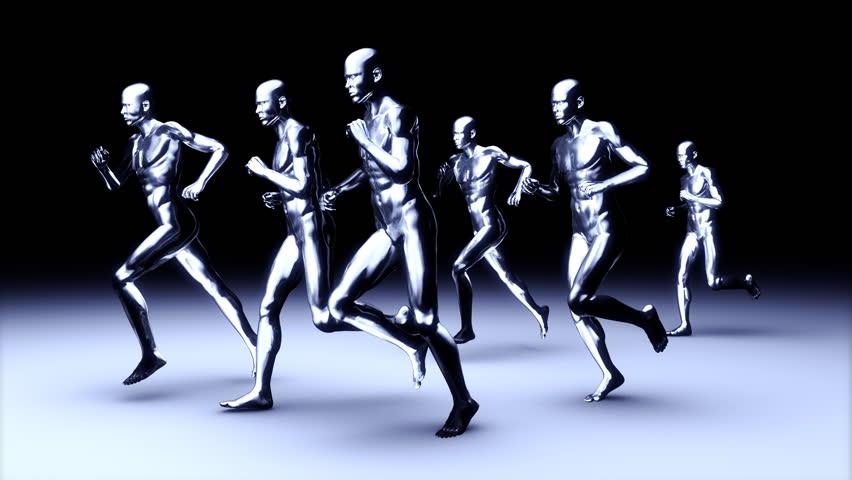 People running, loop