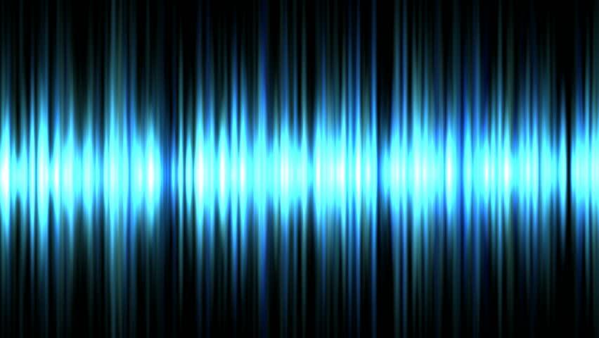 Blue waveform background (seamless loop) HD 1080p
