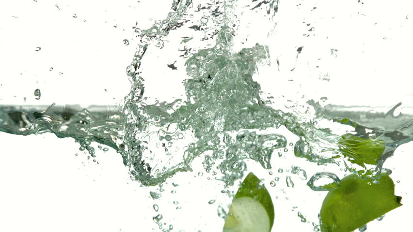 Apple falling in water and floating in slow motion stock footage apple quarters plunging into water on white background in slow motion hd stock video clip gumiabroncs Images