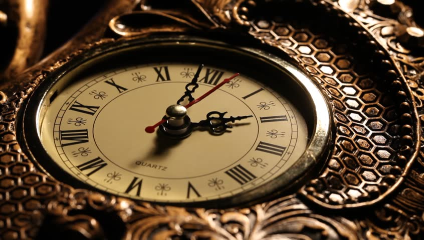 Vintage clocks on the map old world map in 1565 stock footage close up of an old clock face hd stock footage clip gumiabroncs Image collections