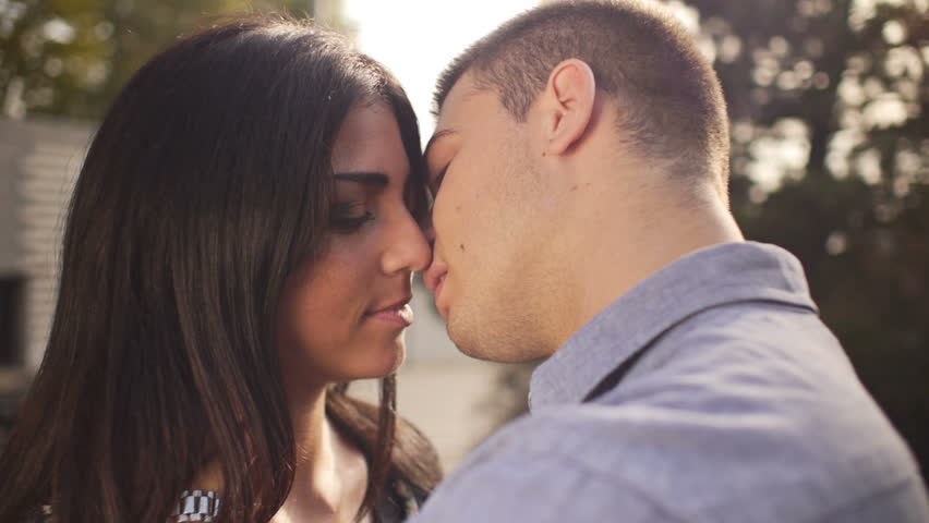Videos of kissing couple