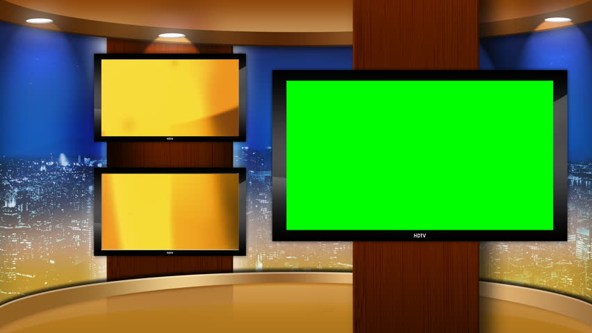 Virtual Studio Set Background with Stock Footage Video