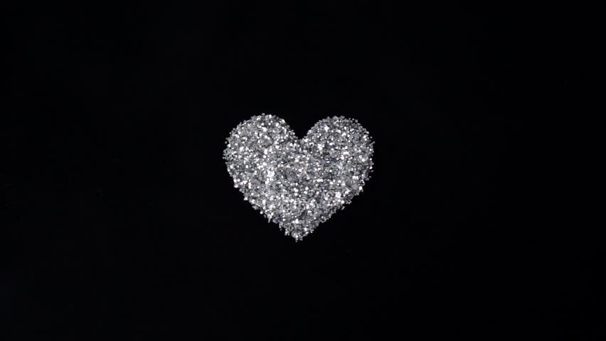 spinning diamond valentine heart heart 30 hd