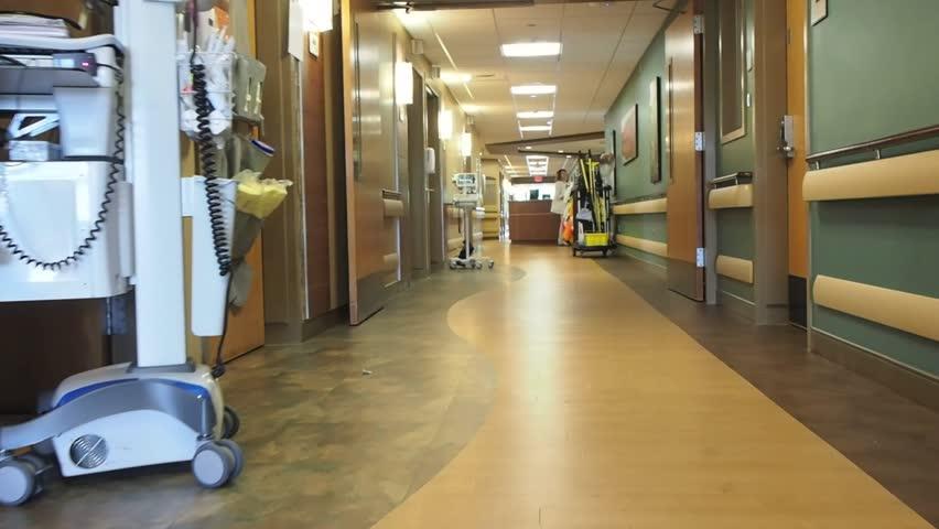 Hospital hallway on patient floor