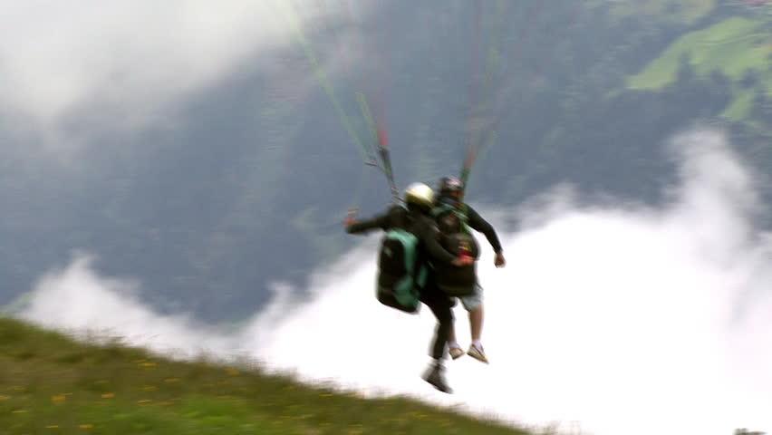 paraglider start closeup
