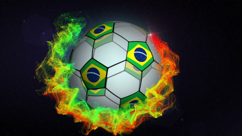 Soccer Ball and Brazilian Flags in Particles   Shutterstock HD Video #6542399