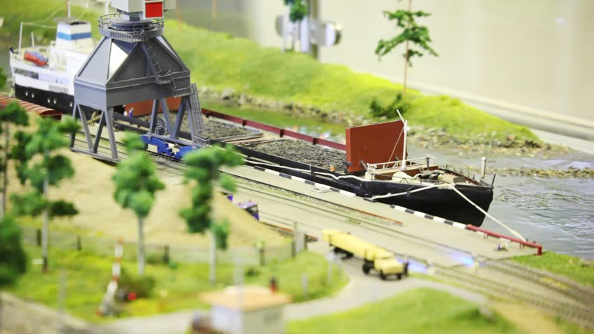 Toy Train Bring Empty Cargo Stock Footage Video 100 Royalty Free