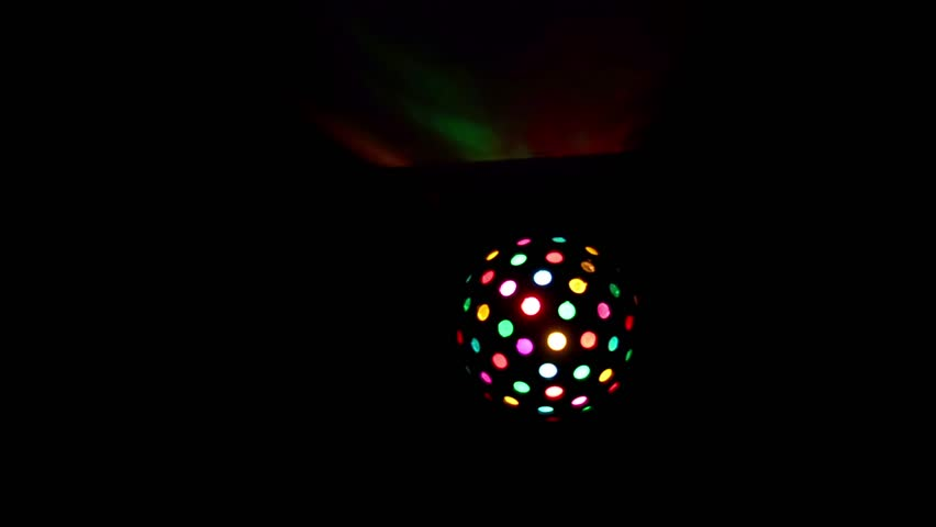 Disco mirror ball lights stock footage video 4k and hd 6726097 looping disco spinning light ball with ceiling colorful reflection use black background as alpha aloadofball Images