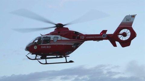 Timisoara, Romania - December, 2012 - Medical emergency helicopter unit.