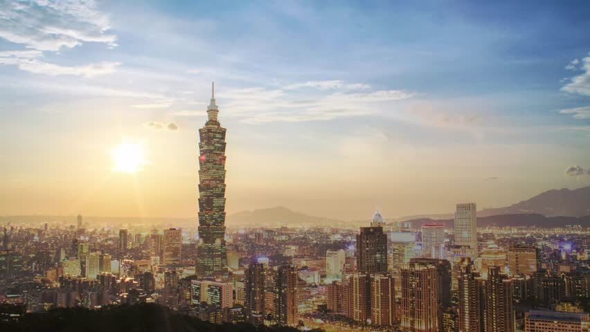 Time lapse of Nice view of Taipei City, Taiwan | Shutterstock HD Video #6597569