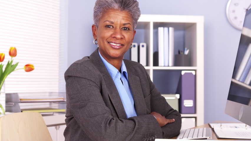 Mature office black woman