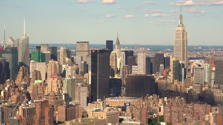 NEW YORK, NEW YORK/USA – June 07 2014: Aerial View of Empire State Building in Midtown Manhattan, New York City on June 07 2014 in New York, New York, USA | Shutterstock HD Video #6619559