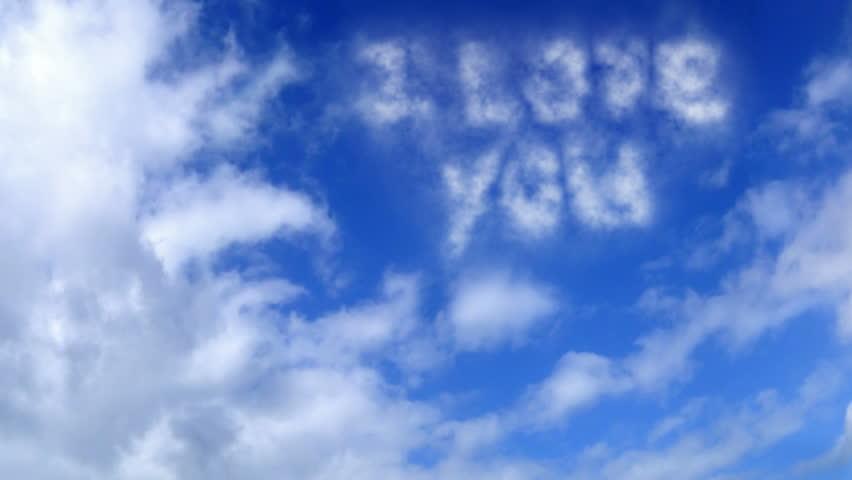 HD 1080 - Cloud Words_I Love You