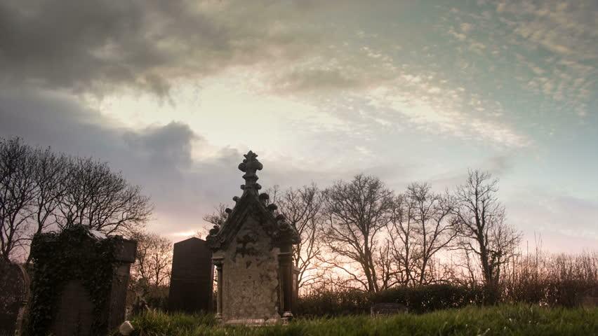 Timelapse of Graveyard Sunset  2k Stock Footage Video (100% Royalty-free)  6699089   Shutterstock